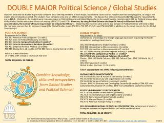 DOUBLE MAJOR Political Science / Global  Studies