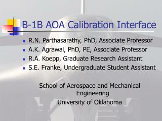 B-1B AOA Calibration Interface