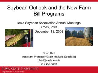 Soybean Outlook and the New Farm Bill Programs