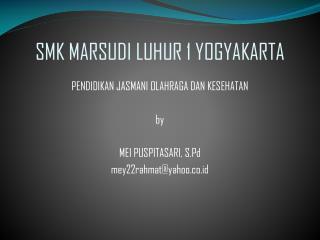 SMK MARSUDI LUHUR 1 YOGYAKARTA