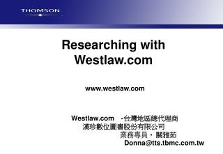 Researching with Westlaw