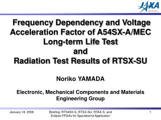 Frequency Dependency and Voltage Acceleration Factor of A54SX-A