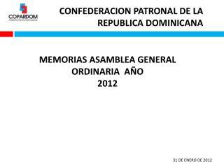 CONFEDERACION PATRONAL DE LA REPUBLICA DOMINICANA