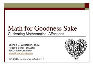 Math for Goodness Sake
