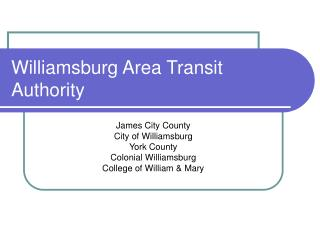 Williamsburg Area Transit Authority