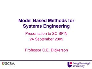 Model Based Methods for Systems Engineering