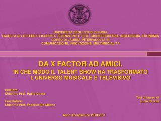 DA X FACTOR AD AMICI. IN CHE MODO IL TALENT SHOW HA TRASFORMATO L'UNIVERSO MUSICALE E TELEVISIVO