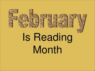 Is Reading Month