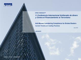 V. Conferencia Internacional Antilavado de dinero y Contra el Financiamiento al Terrorismo