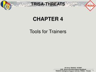 CHAPTER 4 Tools for Trainers