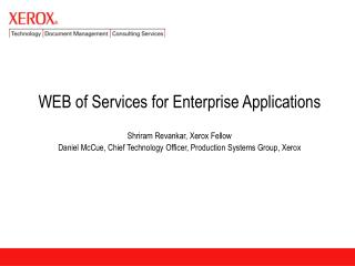 WEB of Services for Enterprise Applications