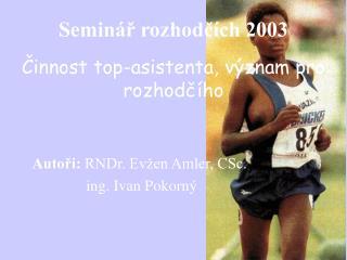 Seminář rozhodčích 2003