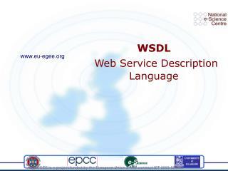 WSDL Web Service Description Language
