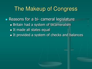 The Makeup of Congress