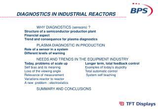 DIAGNOSTICS IN INDUSTRIAL REACTORS