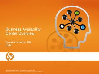 Business Availability Center Overview