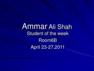 Ammar  Ali Shah