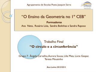 "Trabalho Final ""O círculo e a circunferência"""