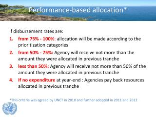 Performance-based  allocation*