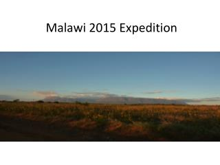 Malawi 2015 Expedition