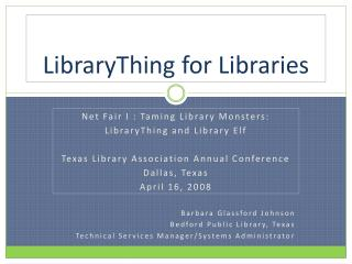 LibraryThing for Libraries