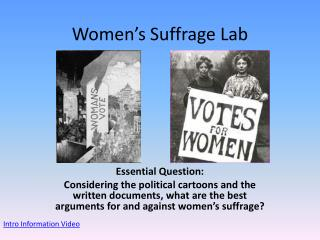 Women's Suffrage Lab