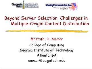 Beyond Server Selection: Challenges in Multiple-Origin Content Distribution