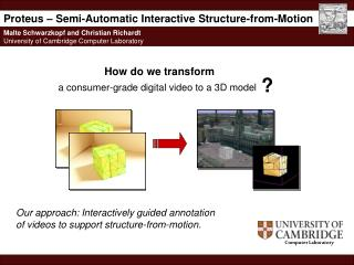Proteus – Semi-Automatic Interactive Structure-from-Motion