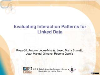Evaluating Interaction Patterns for Linked Data