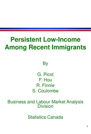 Persistent Low-Income Among Recent Immigrants