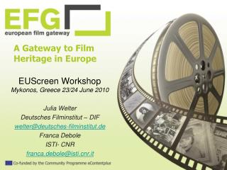 A Gateway to Film Heritage in Europe