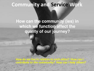 Community and  Service  Work