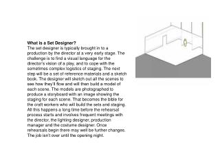 What is a Set Designer?