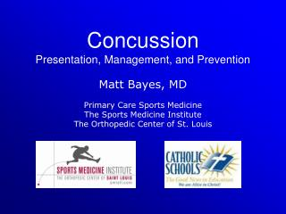 Concussion Presentation, Management, and Prevention