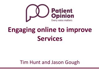 Tim Hunt and Jason Gough