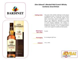 Glen Edward´s Blended Malt Scotch Whisky Scotland, Great Britain