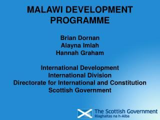 MALAWI DEVELOPMENT PROGRAMME
