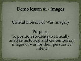 Demo lesson #1 - Images