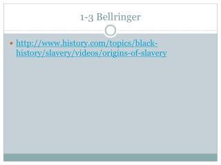 1-3  Bellringer