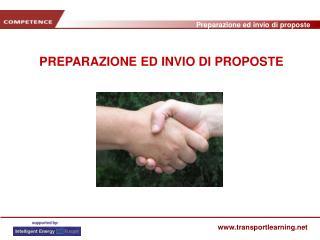 PREPARAZIONE ED INVIO DI PROPOSTE