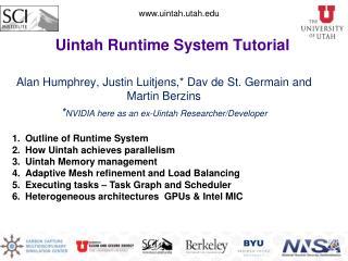 Uintah Runtime System Tutorial