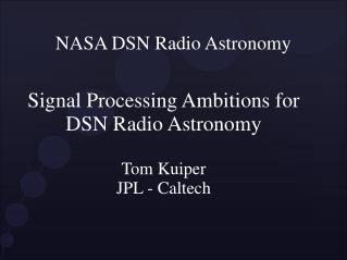 NASA DSN Radio Astronomy