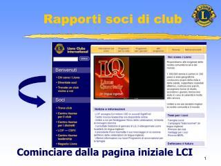 Rapporti soci di club