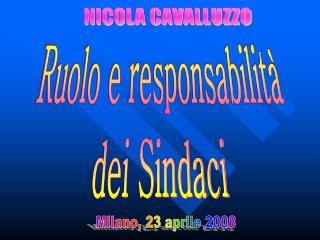 Milano, 23 aprile 2008