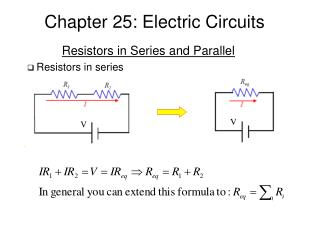 Chapter 25: Electric Circuits