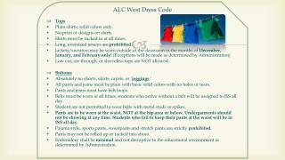 ALC West Dress Code