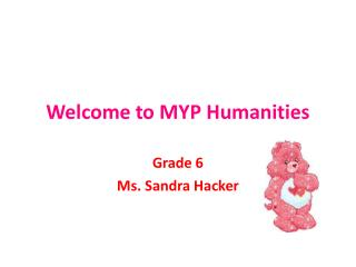 Welcome to MYP Humanities