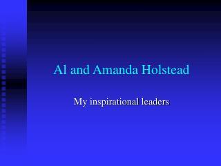 Al and Amanda Holstead