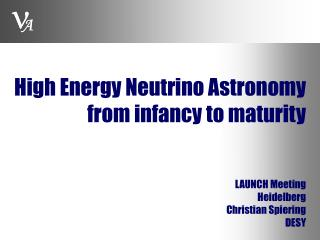 High Energy Neutrino Astronomy from infancy to maturity
