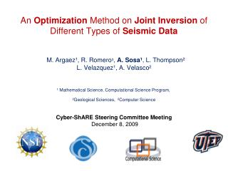 An  Optimization  Method on  Joint Inversion  of Different Types of  Seismic Data